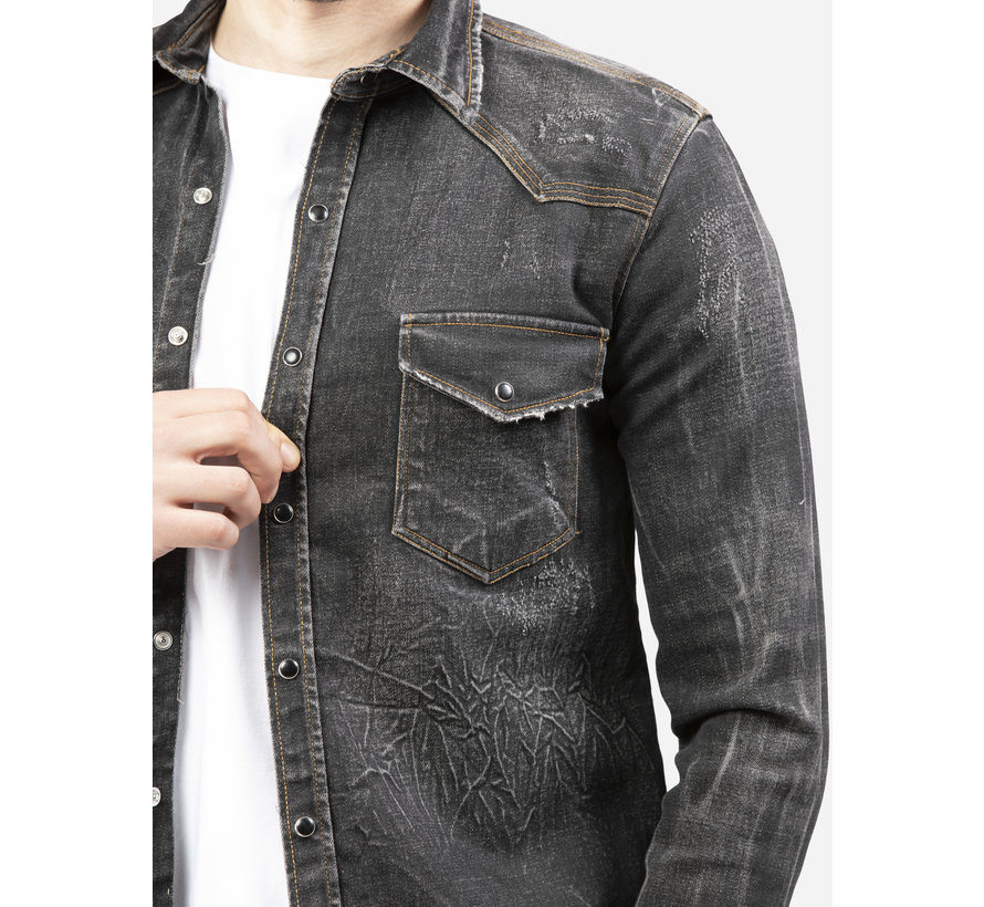 Overhemd Lange Mouw UY396 Black