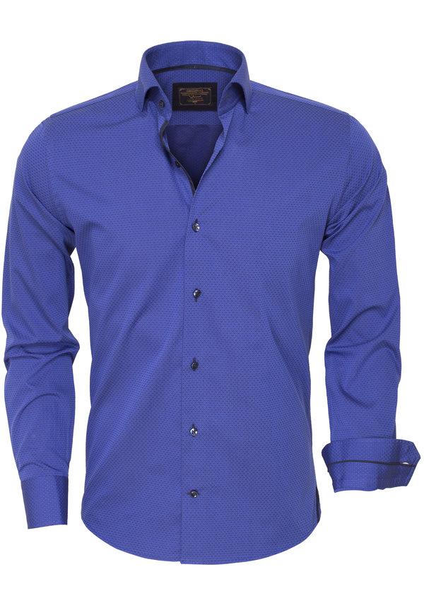 Overhemd Lange Mouw 75417 Light Navy