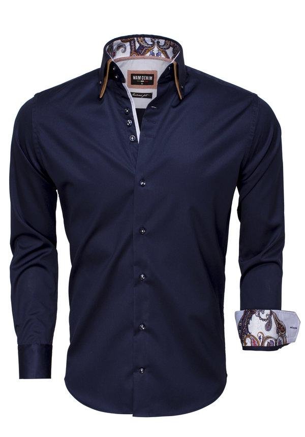 Overhemd Lange Mouw 75497 Navy