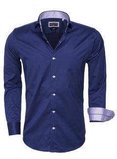 Wam Denim Overhemd Lange Mouw 75394 Navy