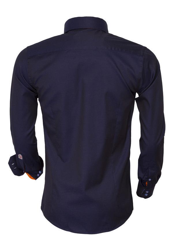 Overhemd Lange Mouw 75423 Dark Navy