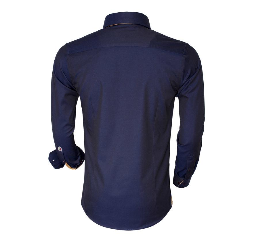 Overhemd Lange Mouw 75401 Light Navy