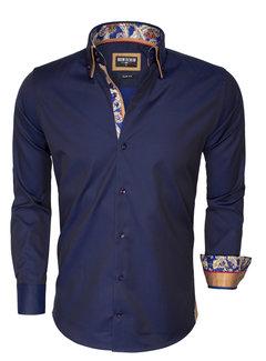 Wam Denim Overhemd Lange Mouw 75401 Light Navy