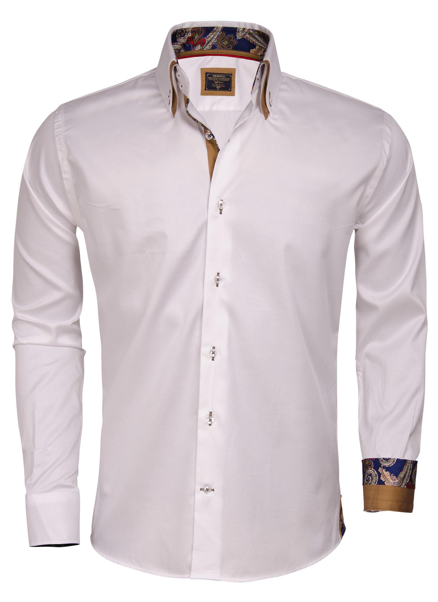 Overhemd Lange Mouw 75200 White