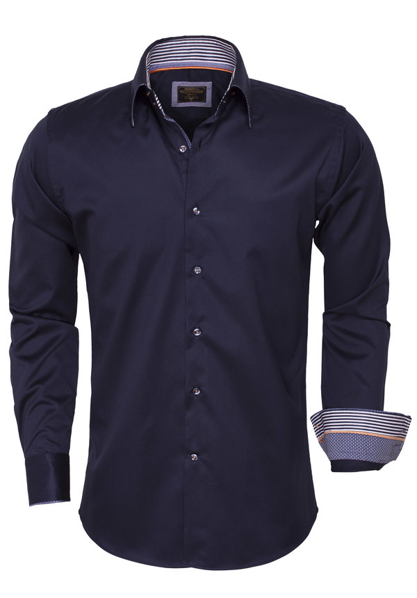 Overhemd Lange Mouw 75443 Navy
