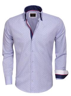 Wam Denim Overhemd Lange Mouw75404 Light Blue