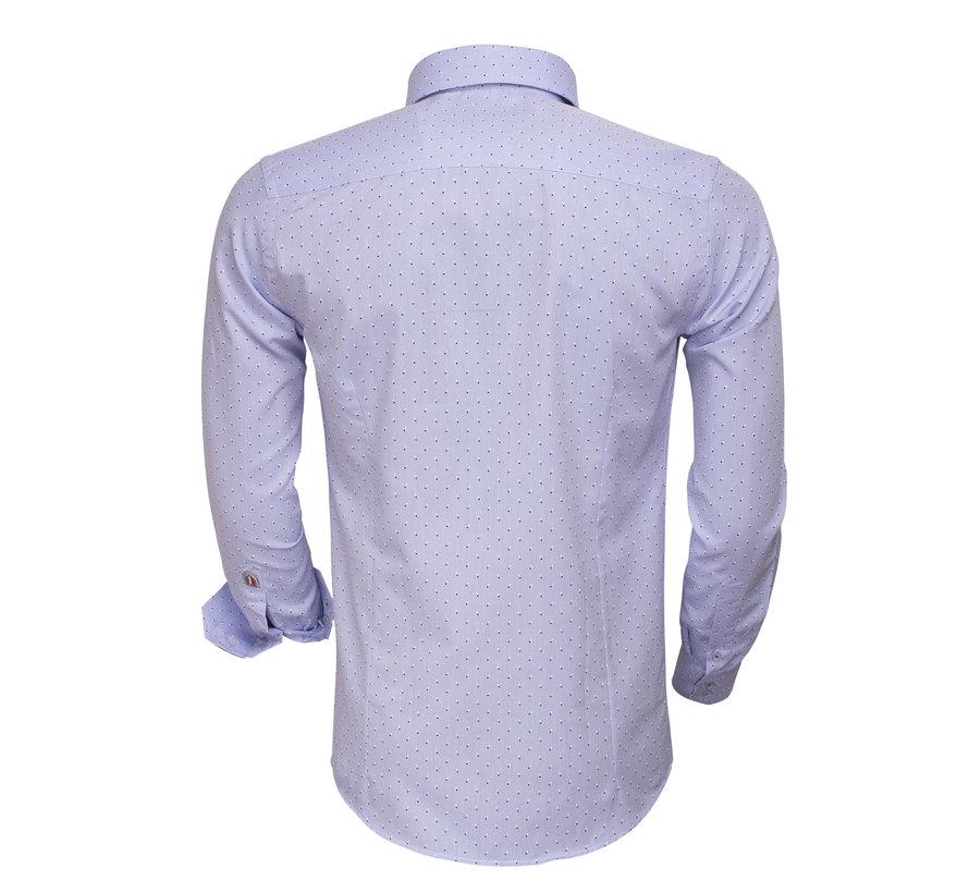 Overhemd Lange Mouw75404 Light Blue