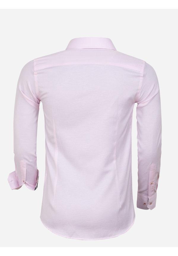 Overhemd Lange Mouw 85288 Pink