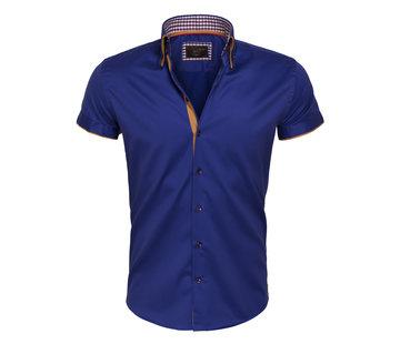 Wam Denim Overhemd Korte Mouw 75410 Light Navy