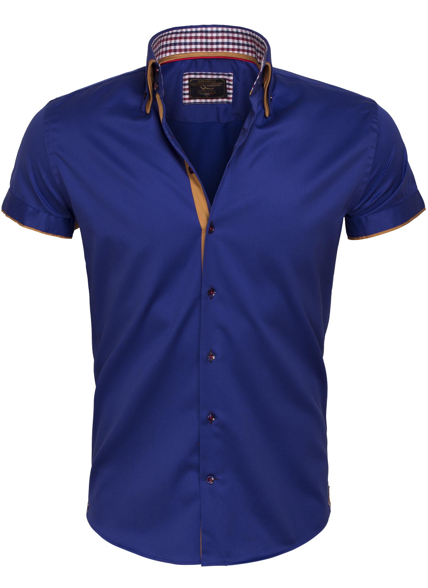 Overhemd Korte Mouw 75410 Light Navy