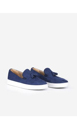 Wam Denim Suède Schoenen 475 Royal Blue