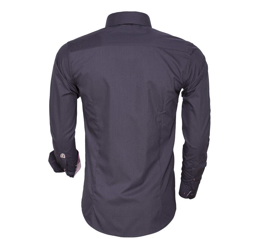 Overhemd Lange Mouw 85272 Anthracite