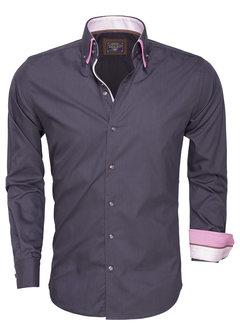 Arya Boy Overhemd Lange Mouw 85272 Anthracite