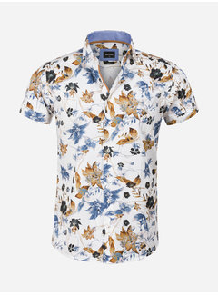 Wam Denim Overhemd Korte Mouw 75605 Granada White