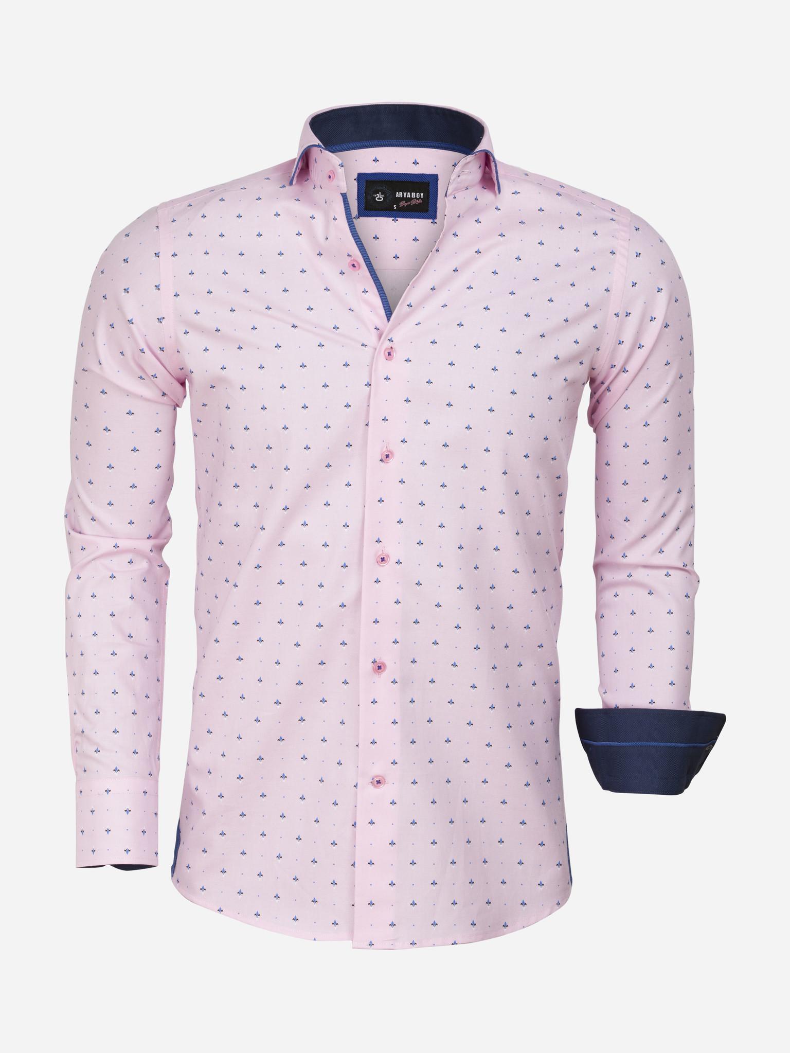 Overhemd Lange Mouw 85286 Pink