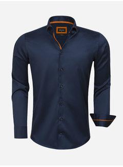 Wam Denim Shirt Long Sleeve 75620 Santander Navy