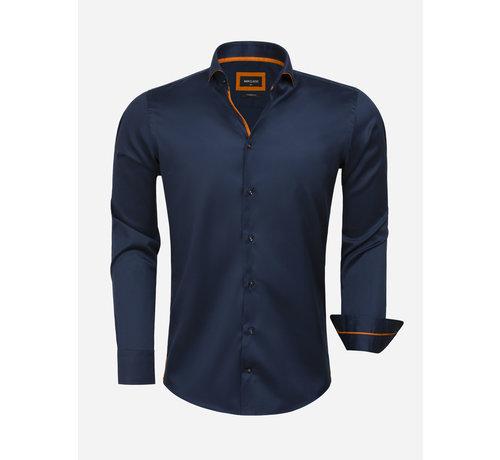 Wam Denim Overhemd Lange Mouw 75620 Santander Navy
