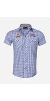 Overhemd Korte Mouw 85287 Mataro Navy Blue
