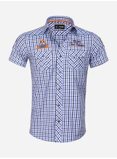 Arya Boy Overhemd Korte Mouw 85287 Mataro Navy Blue