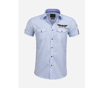 Wam Denim Overhemd Korte Mouw 75615 Badajoz Light Blue