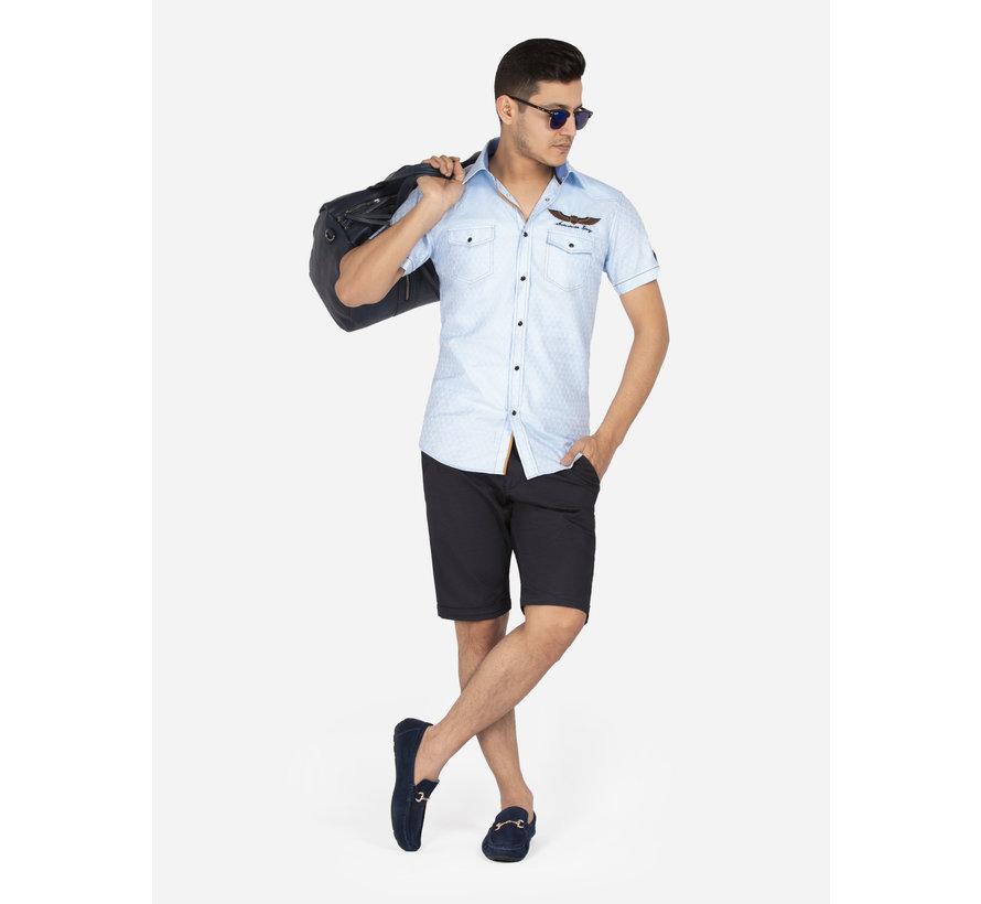 Overhemd Korte Mouw 75615 Badajoz Light Blue