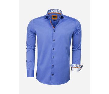 Wam Denim Overhemd Lange Mouw 75621 Marbella Dark Blue