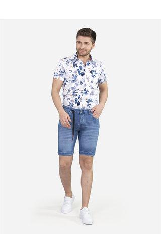 Wam Denim Overhemd Korte Mouw 75652 White
