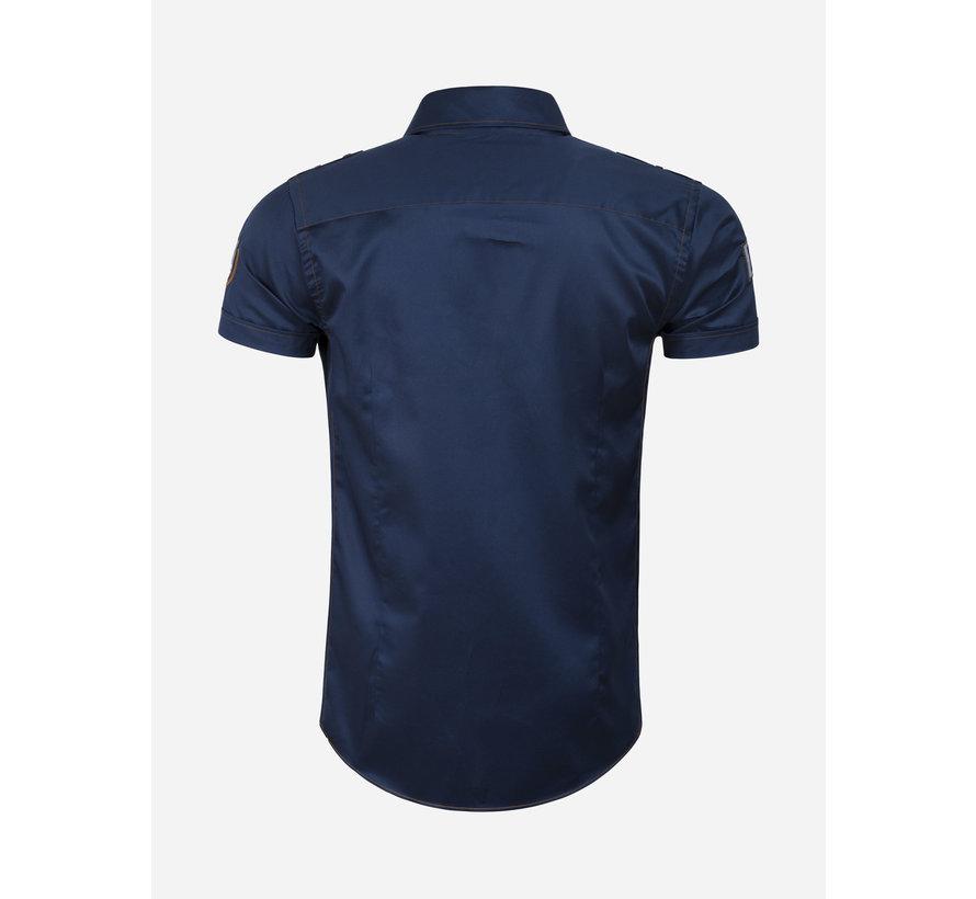 Overhemd Korte Mouw 75624 Mataro Navy