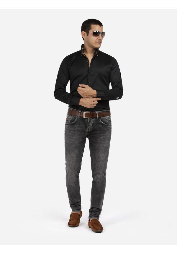 Overhemd Lange Mouw Roma Black