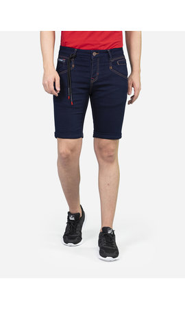 Wam Denim Korte Broek Alain Dark Navy