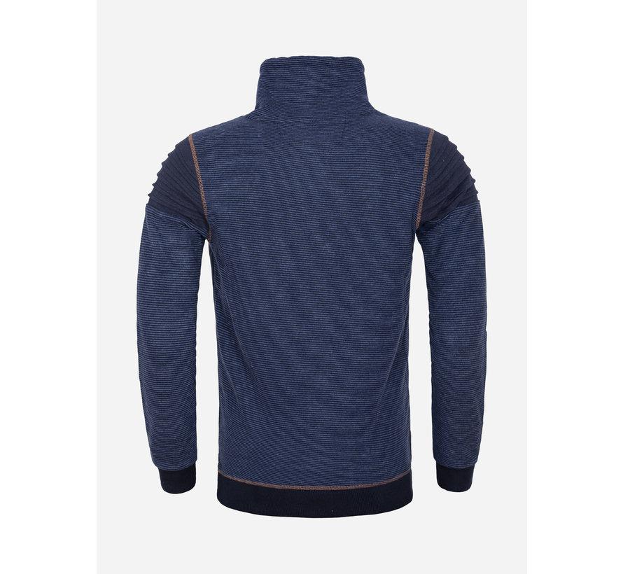 Sweater 76143 Navy Royal Blue