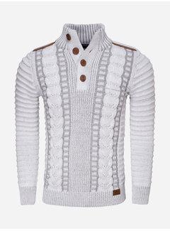 Wam Denim Sweater 77212 Jonotla White Grey