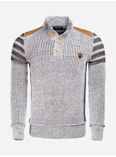 Wam Denim Sweater 77212 Jonotla Off White Brown