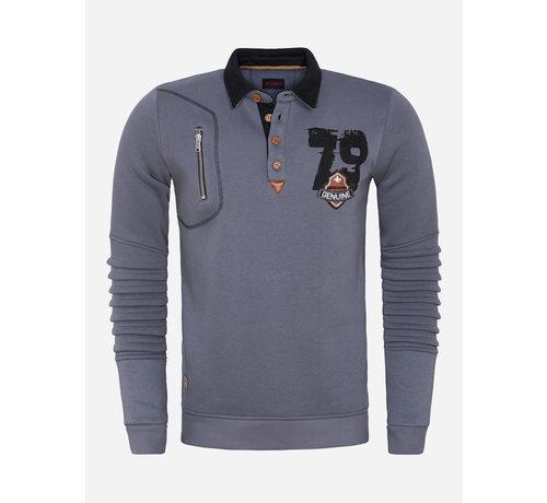 Wam Denim Sweater 76202 Steel Grey