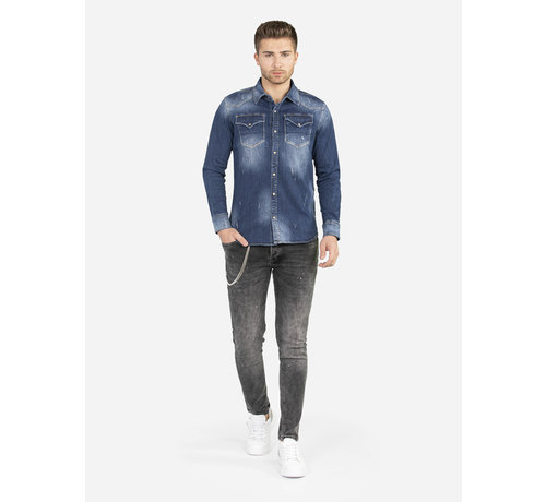 Wam Denim Denim Overhemd 111 Blue