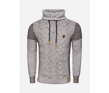 Wam Denim Sweater 77213 Off White Brown