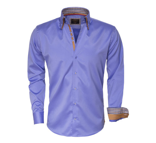 Wam Denim Overhemd Lange Mouw 75379 Blue