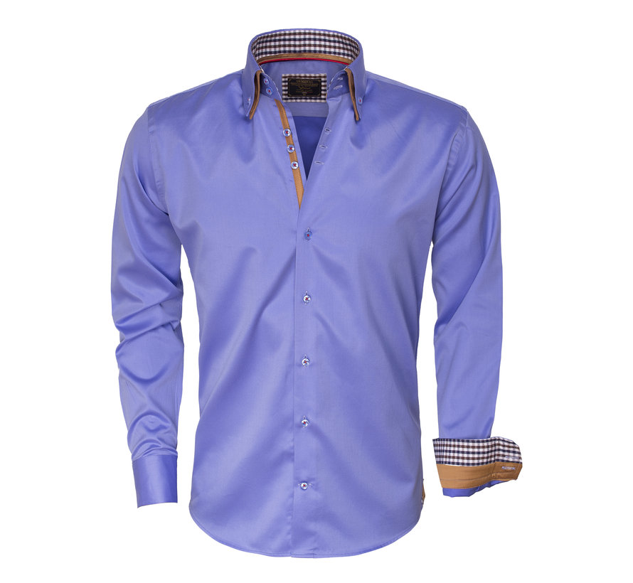 Shirt Langs Leeve 75379 Blue