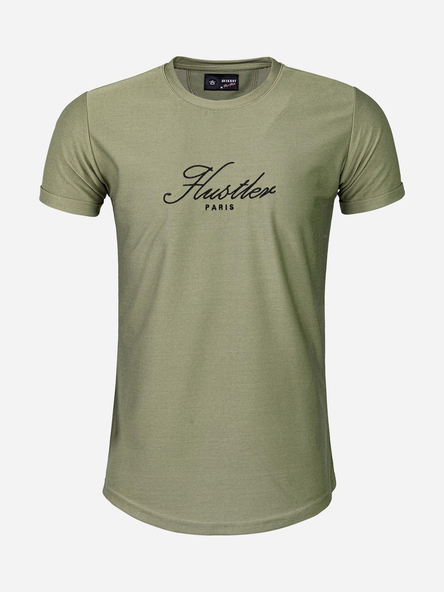 Wam Denim T-Shirt 89298 Khaki Maat: S