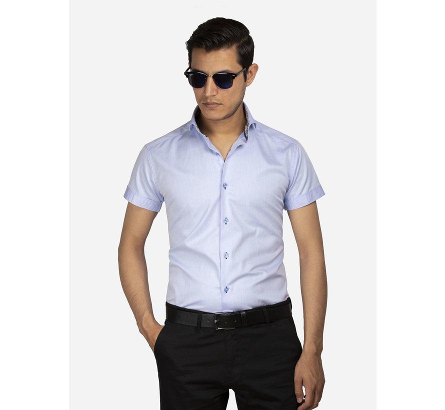Overhemd Korte Mouw 75555 Light Blue