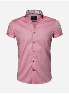 Wam Denim Overhemd Korte Mouw 75555 Light Red