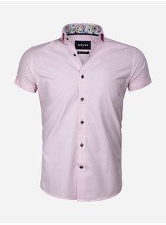 Wam Denim Overhemd Korte Mouw 75555 Monza Light Pink