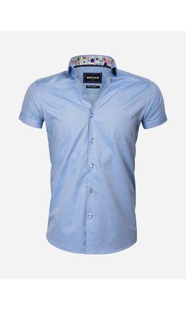 Wam Denim Overhemd Korte Mouw 75555 Monza Dark Blue