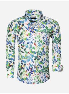 Wam Denim Overhemd Lange Mouw 75558 White Green
