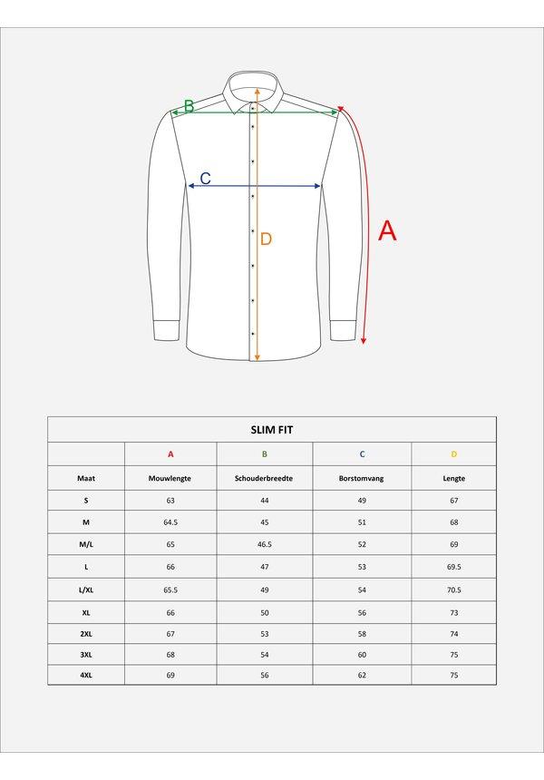 Overhemd Lange Mouw 75633 Beja Navy
