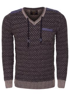 Wam Denim Sweater 77058 Peru Navy