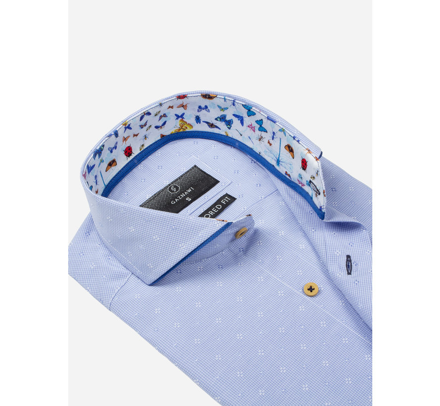 Overhemd Korte Mouw 65037 Blue