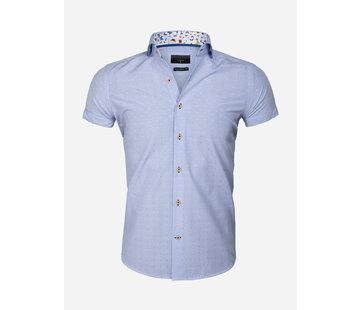 Wam Denim Overhemd Korte Mouw 65037 Blue