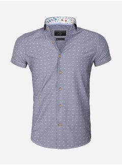 Gaznawi Overhemd Korte Mouw 65037 Olbia Navy