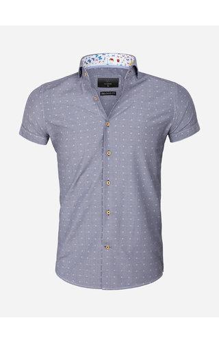 Gaznawi Shirt Short Sleeve 65037 Olbia Royal Blue